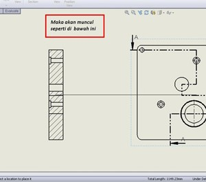 Tutorial SolidWorks Indonesia : Multiple Section View in Drawing