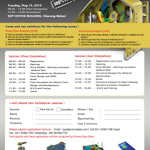 SolidWorks Validation Day – 13 May 2014