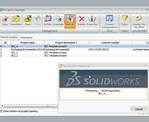 Pembuatan template di SolidWorks Electrical
