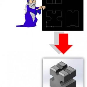 Bagaimana cara menggunakan perintah 2D to 3D?