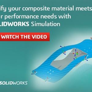 Verifikasi produk yang terbuat dari bahan komposit  dengan solidworks simulation