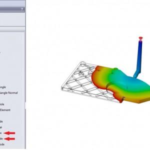 Menambah, Memodifikasi Nodes saat shell mesh di SolidWorks Plastics