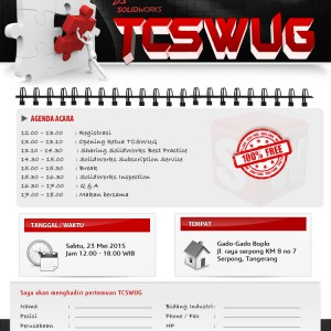 TANGERANG CITY SOLIDWORKS USER GROUP – GATHERING 2015
