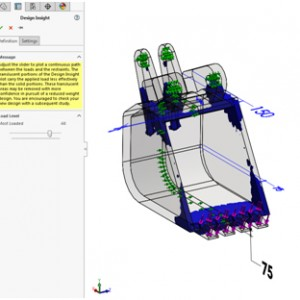 Design Insight Plot pada SOLIDWORKS Simulation