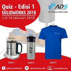 Kuis SOLIDWORKS CAM 2018 – edisi 1