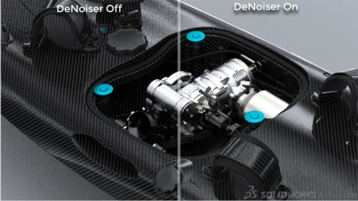 SOLIDWORKS Visualize Denoiser