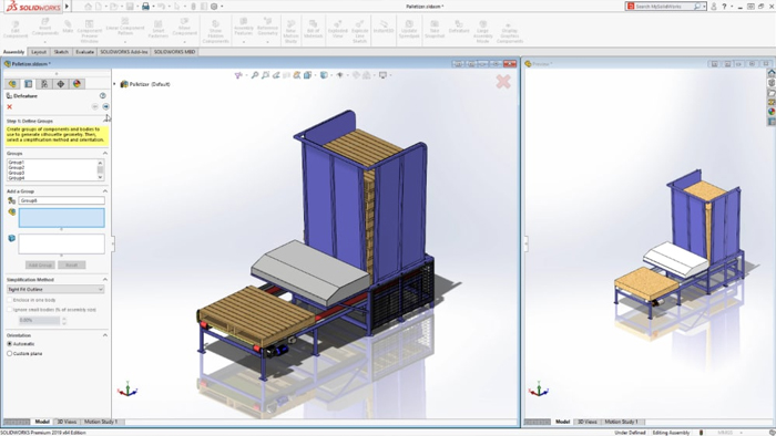 solidworks 2019 - Assembly Defeaturing