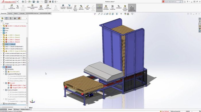 solidworks 2019 - Group Mates by Status