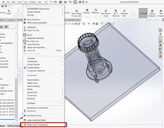 smart compobnent solidworks 2