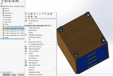 smart compobnent solidworks 5