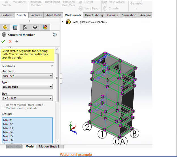 grid system solidworks 7