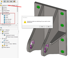 interface detection solidworks 2