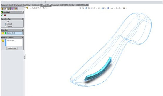 surface solidworks 10