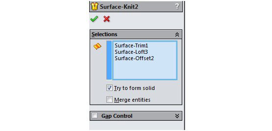 surface solidworks 9
