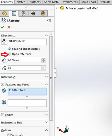 solidworks Reference Patterns