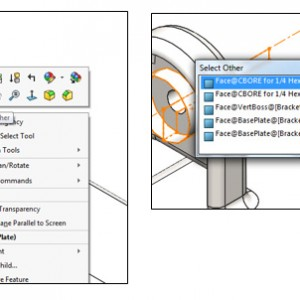 Selection Methods pada SOLIDWORKS