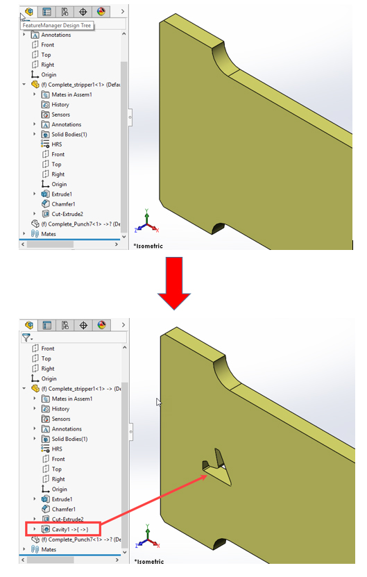 cavity solidworks 5
