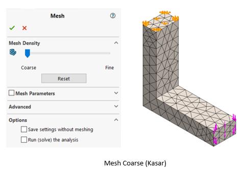 mesh coarse